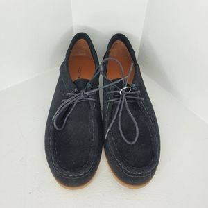 New Lucky Brand Acaciah flat black suede sz 9.5
